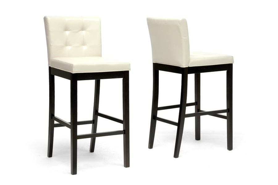 Baxton Studio Prospect Cream Modern Bar Stool (Set of 2) Baxton Studio Prospect Cream Modern Bar Stool (Set of 2), BSCH4-Cream-PSTL (2)