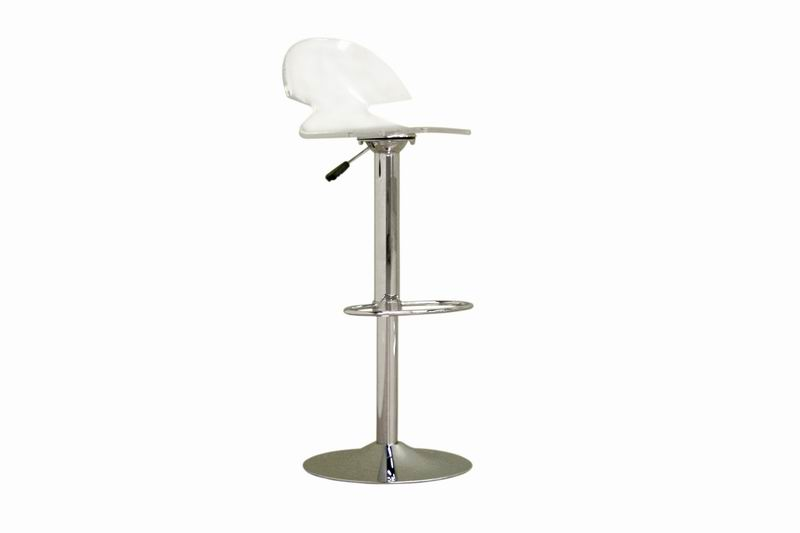 Acrylic Modern Adjustable Chair Bar Kitchen Stool