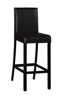 Baxter Bar Stool in Dark Brown Faux Leather -Set of 2