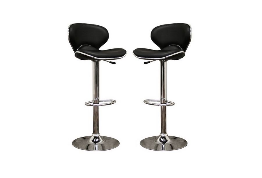 Orion Black Faux Leather Modern Bar Stool (Set of 2) Orion Black Faux Leather Modern Bar Stool (Set of 2), IEM-90064-Black Set of 2, compare Orion Black Faux Leather Modern Bar Stool (Set of 2), best price on Orion Black Faux Leather Modern Bar Stool (Set of 2), discount , cheap Orion Black Faux Leather Modern Bar Stool (Set of 2)