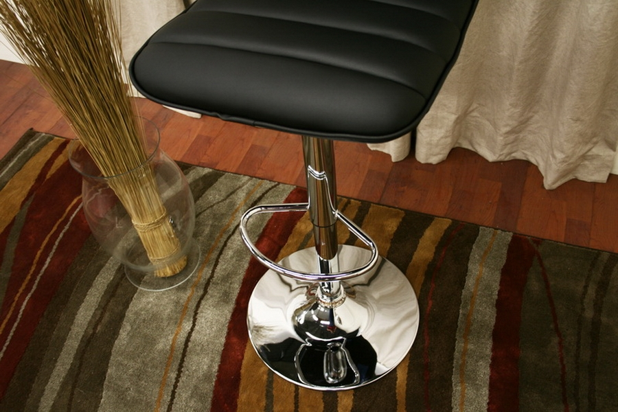 Lyris Black Faux Leather Modern Bar Stool (Set of 2) - IEM-90074-Black Set of 2