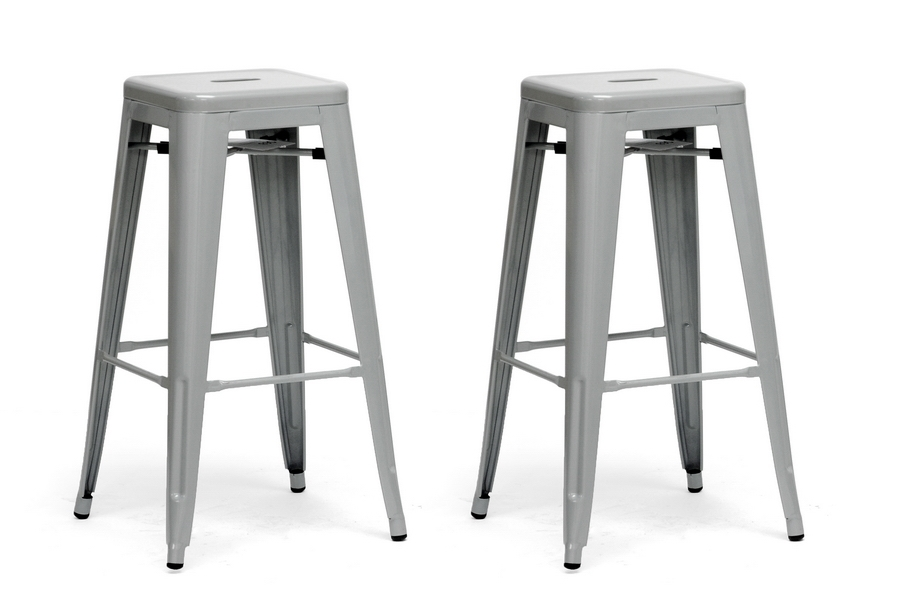 Baxton Studio French Industrial Modern Bar Stool in Gray (Set of 2) Baxton Studio French Industrial Modern Bar Stool in Gray, IEM-94115-30-silver-PSTL, compare Baxton Studio French Industrial Modern Bar Stool in Gray, best price on Baxton Studio French Industrial Modern Bar Stool in Gray, discount Baxton Studio French Industrial Modern Bar Stool in Gray, cheapBaxton Studio French Industrial Modern Bar Stool in Gray