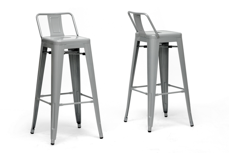 Baxton Studio French Industrial Modern Bar Stool with Back Support in Gray (Set of 2) Baxton Studio French Industrial Modern Bar Stool with Back Support in Gray, IEM-94115X-30-silver-PSTL, compare Baxton Studio French Industrial Modern Bar Stool with Back Support in Gray, best price on Baxton Studio French Industrial Modern Bar Stool with Back Support in Gray, discount Baxton Studio French Industrial Modern Bar Stool with Back Support in Gray, cheapBaxton Studio French Industrial Modern Bar Stool with Back Support in Gray