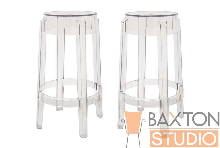 Bettino Clear Acrylic Counter Stool Set of 2 - IEPC-502B-Clear-Set of 2