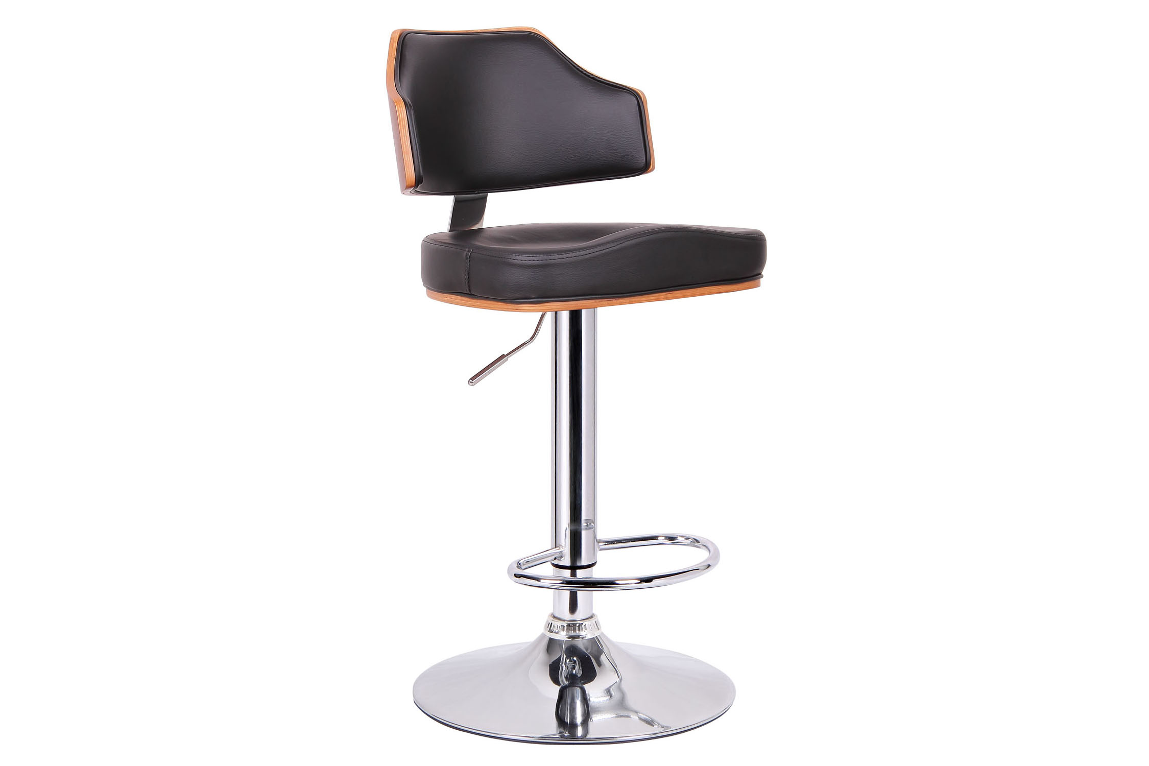 Baxton Studio Cabell Walnut and Black Modern Bar Stool Cabell Walnut and Black Modern Bar Stool ,IESD-2159-walnut/black-PSTL,compare Cabell Walnut and Black Modern Bar Stool ,best price on Cabell Walnut and Black Modern Bar Stool ,discount  Cabell Walnut and Black Modern Bar Stool ,cheap  Cabell Walnut and Black Modern Bar Stool