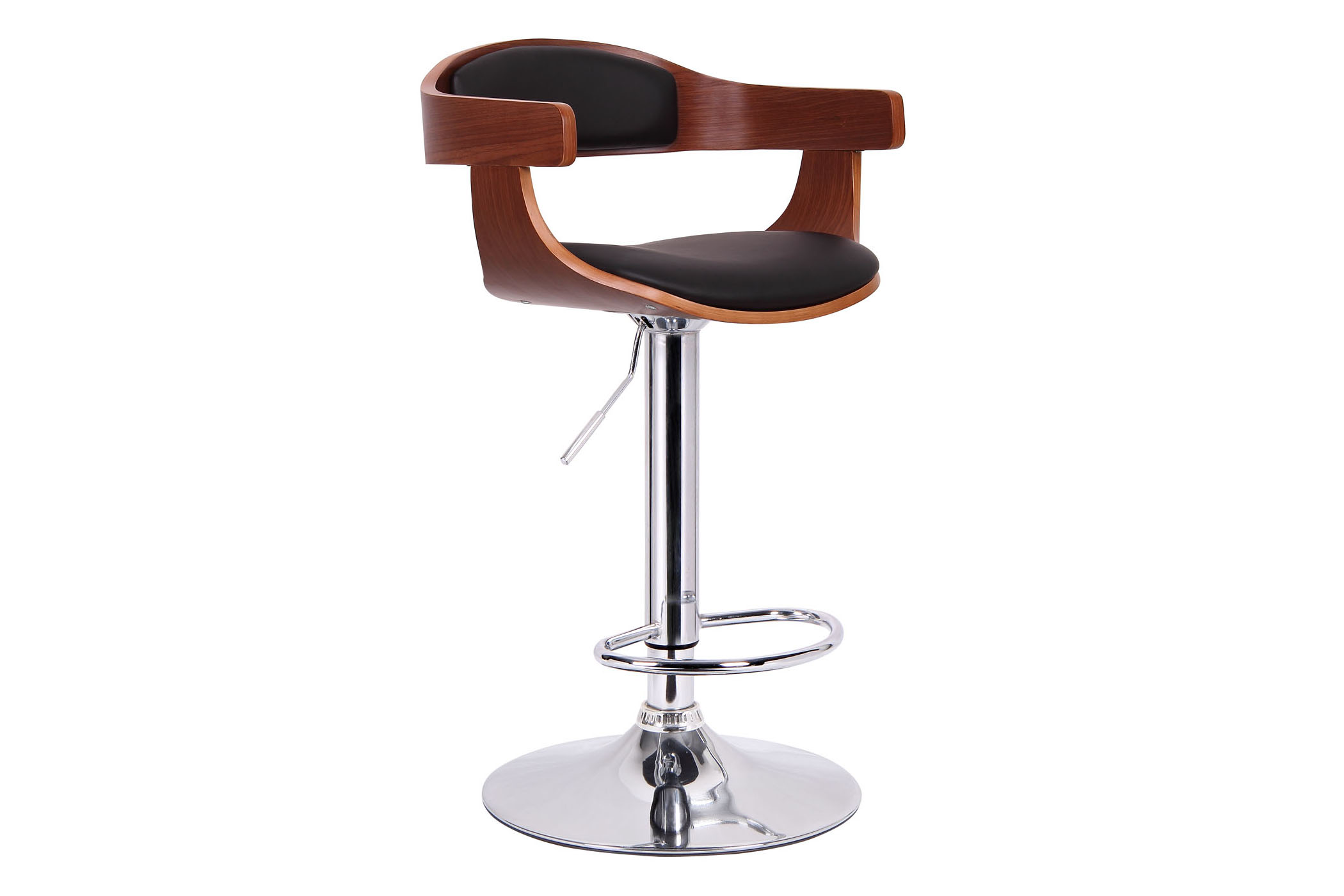 Baxton Studio Garr Walnut and Black Modern Bar Stool Garr Walnut and Black Modern Bar Stool,IESD-2178-walnut/black-PSTL,compare Garr Walnut and Black Modern Bar Stool,best price on Garr Walnut and Black Modern Bar Stool,discount  Garr Walnut and Black Modern Bar Stool,cheap  Garr Walnut and Black Modern Bar Stool