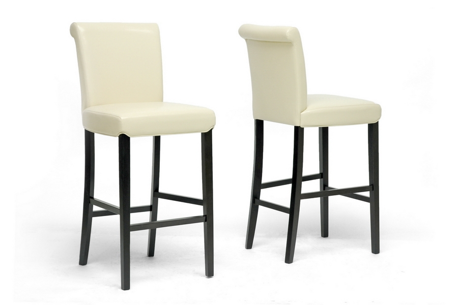 Baxton Studio Bianca Cream Modern Bar Stool (Set of 2) Baxton Studio Bianca Cream Modern Bar Stool (Set of 2), BSY-303-Cream-PSTL (2)