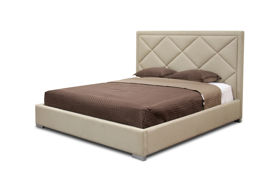 Palomar Beige Fabric Upholstered Modern Bed - King Size - IEB-179-C-250-King