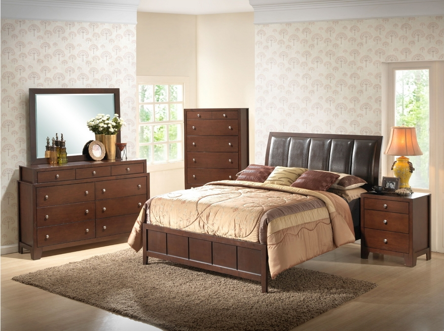 Baxton Studio Butler Brown Queen Size Modern Bedroom Set Butler Brown Queen Size Modern Bedroom Set, IEIDB019-Queen PU Bed (1), IDB019-DD (1), IDB019-MR (1), IDB019-NS (2), compare Butler Brown Queen Size Modern Bedroom Set, best price on Butler Brown Queen Size Modern Bedroom Set , discount Butler Brown Queen Size Modern Bedroom Set , cheap  Butler Brown Queen Size Modern Bedroom Set