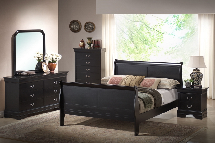 Baxton Studio Harrell Black Queen Size Modern Bedroom Set Harrell Black Queen Size Modern Bedroom Set, IEIDB03-Queen Panel Bed (1), IDB03-DD (1), IDB03-MR (1), IDB03-NS (2), compare Harrell Black Queen Size Modern Bedroom Set, best price on Harrell Black Queen Size Modern Bedroom Set , discount Harrell Black Queen Size Modern Bedroom Set , cheap  Harrell Black Queen Size Modern Bedroom Set