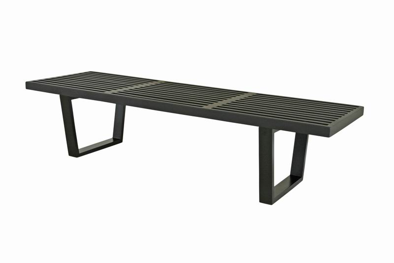 Nelson Platform Bench in Black