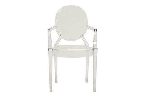 Ghost Chair - Clear Acrylic Stackable Arm Chair