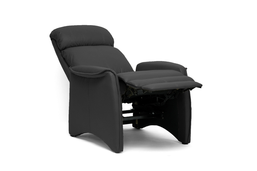 Baxton Studio Aberfeld Black Modern Recliner Club Chair - IEA-062-Black