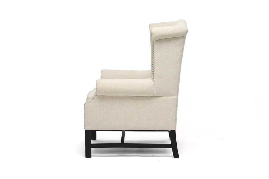 Sussex Beige Linen Club Chair - IEBH-63102