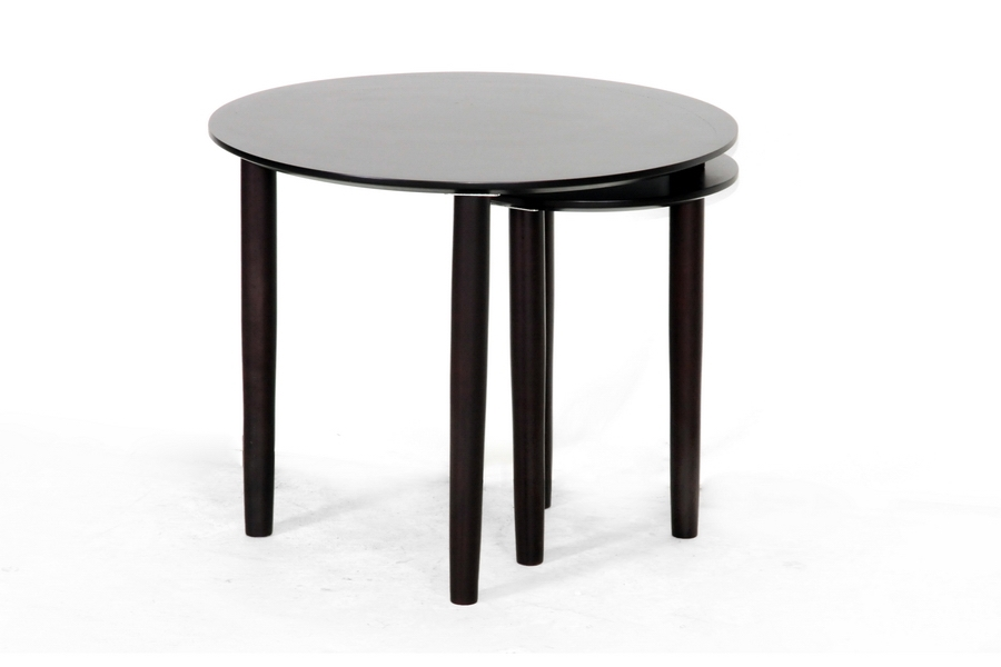 Baxton Studio Trevino Dark Brown Modern Nesting Table - IEST089-wenge-AT
