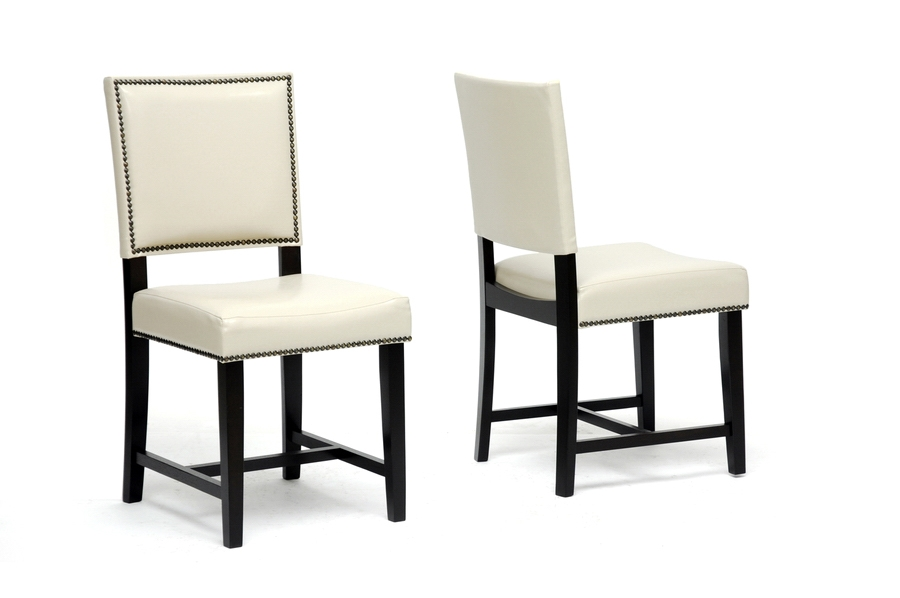 Baxton Studio Nottingham Cream Modern Dining Chair (Set of 2) Baxton Studio Nottingham Cream Modern Dining Chair (Set of 2), BSCH6-Cream-DC (2)