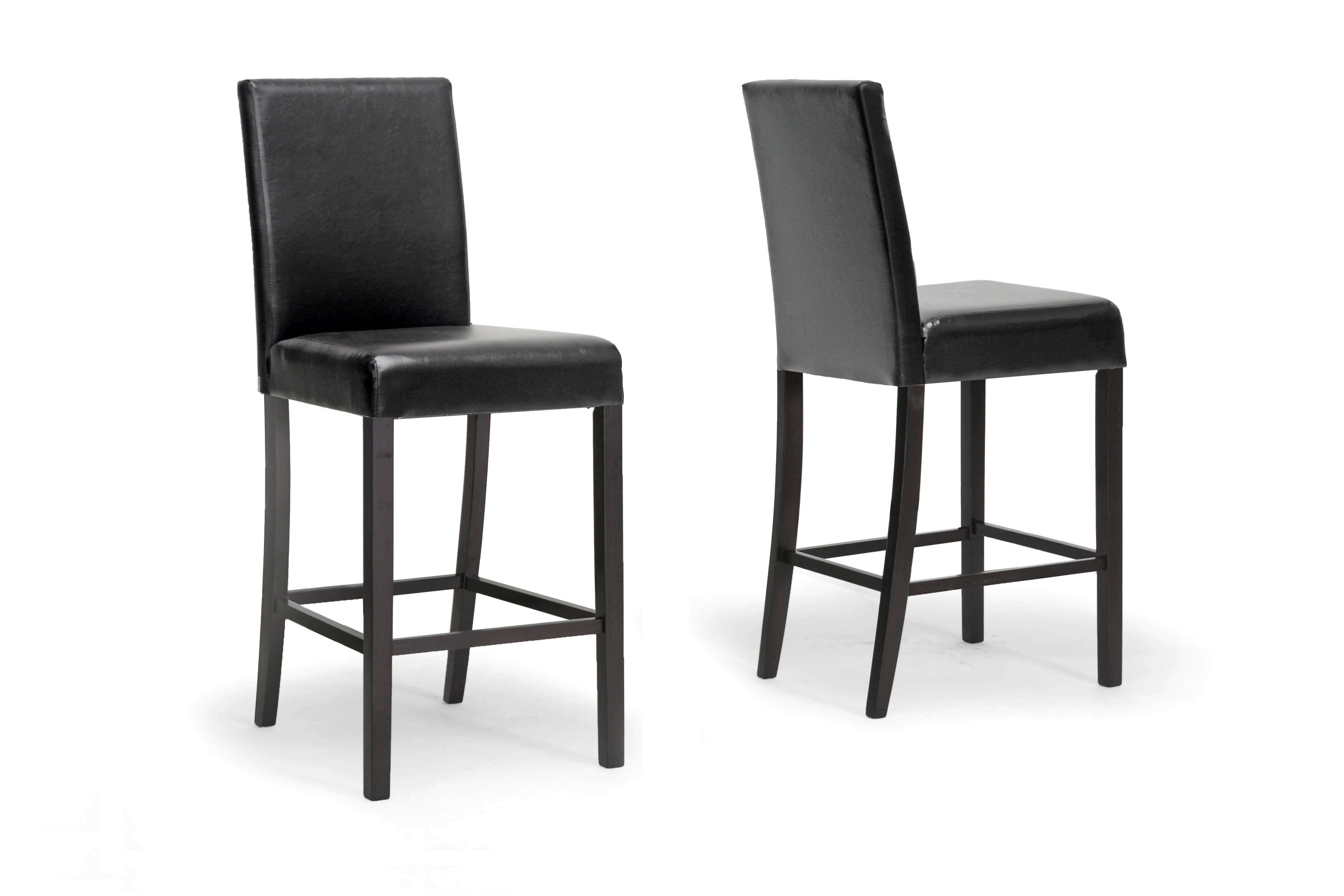 Shaunna Counter Stool in Faux Leather - Set of 2