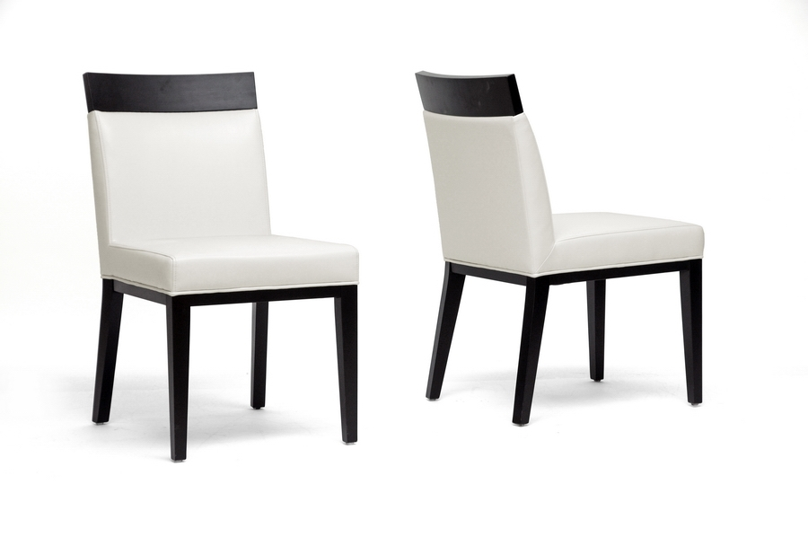 Baxton Studio Clymene Black Wood and Cream Leather Modern Dining Chair (Set of 2) IEY-1012-DU8143 (2), Baxton Studio Clymene Black Wood and Cream Leather Modern Dining Chair (Set of 2)compare IEY-1012-DU8143 (2), best price onIEY-1012-DU8143 (2), discount IEY-1012-DU8143 (2), cheap IEY-1012-DU8143 (2)