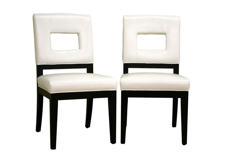 Bianca White Leather Dining Chair Set of 2 Bianca White Leather Dining Chair Set of 2, IEY-765-FU155-Set, compare Bianca White Leather Dining Chair Set of 2, best price on Bianca White Leather Dining Chair Set of 2, discount Bianca White Leather Dining Chair Set of 2, cheap Bianca White Leather Dining Chair Set of 2