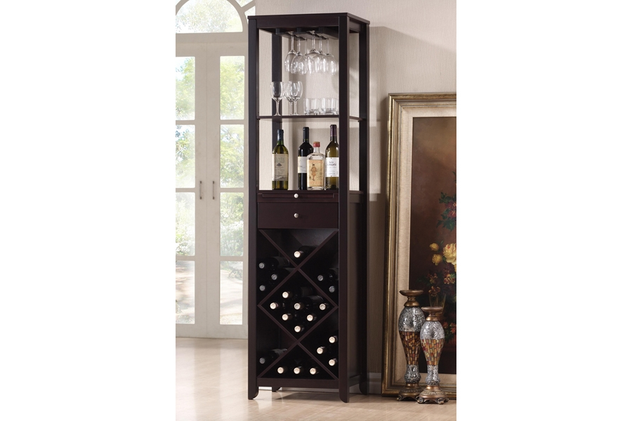 Baxton Studio Austin Brown Wood Modern Wine Tower Austin Brown Wood Modern Wine Tower,IERT190-OCC, compare Austin Brown Wood Modern Wine Tower, best price Austin Brown Wood Modern Wine Tower, discount Austin Brown Wood Modern Wine Tower, cheap Austin Brown Wood Modern Wine Tower