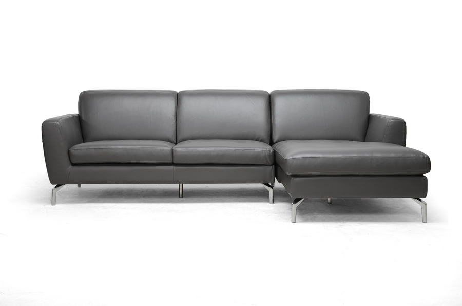 Baxton Studio Donovan Gray Leather Modern Sectional Sofa IE1653-DU8145-RFC, Baxton Studio Donovan Gray Leather Modern Sectional Sofa compare IE1653-DU8145-RFC, best price on IE1653-DU8145-RFC, discount IE1653-DU8145-RFC, cheap IE1653-DU8145-RFC