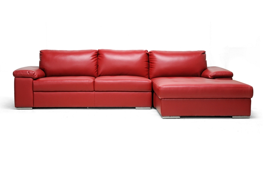 Baxton Studio Dawson Red Leather Modern Sectional Sofa IE1660-DU522-RFC, Baxton Studio Dawson Red Leather Modern Sectional Sofacompare IE1660-DU522-RFC, best price onIE1660-DU522-RFC, discount IE1660-DU522-RFC, cheap IE1660-DU522-RFC