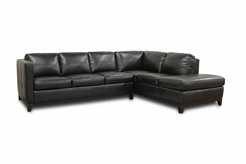 Rohn Black Leather Modern Sectional Sofa Rohn Black Leather Modern Sectional Sofa, IE3166-Sofa/Chaise-DU013/L016, compare Rohn Black Leather Modern Sectional Sofa, best price on Rohn Black Leather Modern Sectional Sofa, discount Rohn Black Leather Modern Sectional Sofa, cheap Rohn Black Leather Modern Sectional Sofa