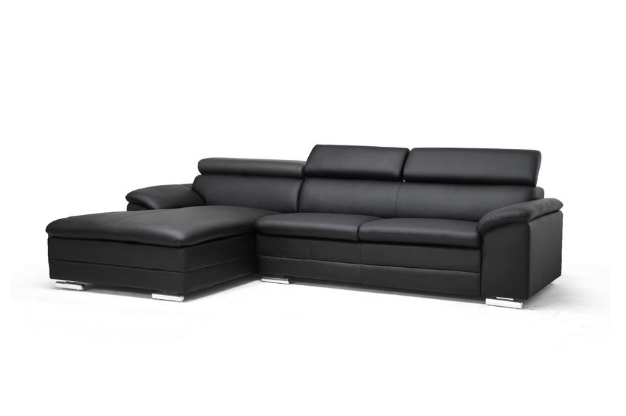 Baxton Studio Franklin Black Modern Sectional Sofa with Adjustable Headrests Franklin Black Modern Sectional Sofa,IEA-072 Sectional-Black-LFC,compare Franklin Black Modern Sectional Sofa,best price on Franklin Black Modern Sectional Sofa,discount Franklin Black Modern Sectional Sofa,cheap  Franklin Black Modern Sectional Sofa