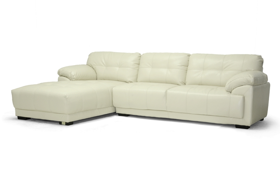 Baxton Studio DeCarlo Cream Leather Modern Sectional Sofa with Left Facing Chaise DeCarlo Cream Leather Modern Sectional Sofa with Left Facing Chaise, IEIDS065LT-Pearl LFC, best price on DeCarlo Cream Leather Modern Sectional Sofa with Left Facing Chaise, discount DeCarlo Cream Leather Modern Sectional Sofa with Left Facing Chaise, cheap DeCarlo Cream Leather Modern Sectional Sofa with Left Facing Chaise