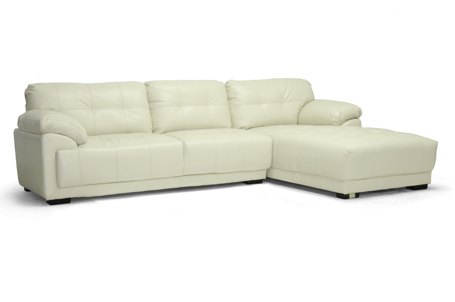 Baxton Studio DeCarlo Cream Leather Modern Sectional Sofa with Right Facing Chaise DeCarlo Cream Leather Modern Sectional Sofa with Right Facing Chaise, IEIDS065LT-Pearl RFC, best price on DeCarlo Cream Leather Modern Sectional Sofa with Right Facing Chaise, discount DeCarlo Cream Leather Modern Sectional Sofa with Right Facing Chaise, cheap DeCarlo Cream Leather Modern Sectional Sofa with Right Facing Chaise