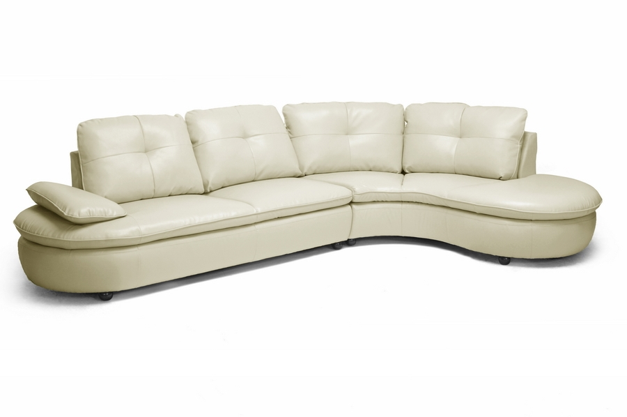 Baxton Studio Hilaria Beige Leather Modern Sectional Sofa Hilaria Beige Leather Modern Sectional Sofa, IEIDS075LT-SEC-RFC-Pearl, best price on Hilaria Beige Leather Modern Sectional Sofa, discount Hilaria Beige Leather Modern Sectional Sofa, cheap Hilaria Beige Leather Modern Sectional Sofa
