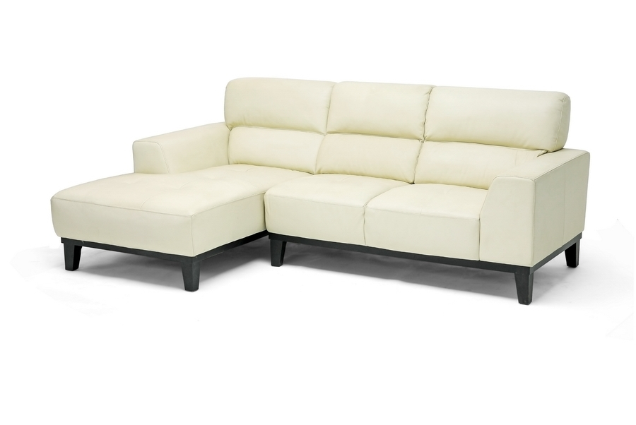 Jocelyn Cream Leather Sofa Sectional