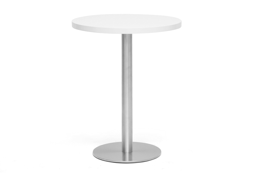 Baxton Studio Monaco Small Round White Modern Bistro Table Monaco Small Round White Modern Bistro Table, IEMP-TT-R60-white-MP-87380, best price on Monaco Small Round White Modern Bistro Table, discount Monaco Small Round White Modern Bistro Table, cheap Monaco Small Round White Modern Bistro Table