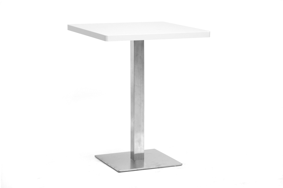 Baxton Studio Monaco Small Square Modern Bistro Table Monaco Small Square Modern Bistro Table, IEMP-TT-S60-White-MP-88380, best price on Monaco Small Square Modern Bistro Table, discount Monaco Small Square Modern Bistro Table, cheap Monaco Small Square Modern Bistro Table