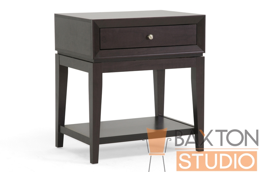 Baxton Studio Felicia Bed Side Table in Dark Brown Felicia Bed Side Table in Dark Brown, IEST-003-Night stand, Felicia Bed Side Table in Dark Brown,Felicia Bed Side Table in Dark Brown,Felicia Bed Side Table in Dark Brown,Felicia Bed Side Table in Dark Brown,