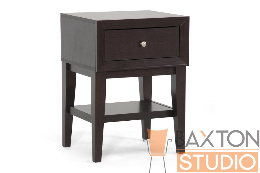 Baxton Studio Bernadine Modern Style Nightstand in Dark Brown Bernadine Modern Style Nightstand in Dark Brown, IEST-007-Night stand, Bernadine Modern Style Nightstand in Dark Brown,Bernadine Modern Style Nightstand in Dark Brown,Bernadine Modern Style Nightstand in Dark Brown,Bernadine Modern Style Nightstand in Dark Brown,
