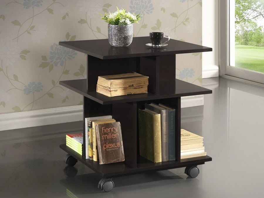 Baxton Studio Warren Dark Brown Wheeled Modern Storage Shelf Warren Dark Brown Wheeled Modern Storage Shelf, IERT247-OCC (L), best price on Warren Dark Brown Wheeled Modern Storage Shelf, discount Warren Dark Brown Wheeled Modern Storage Shelf, cheap Warren Dark Brown Wheeled Modern Storage Shelf