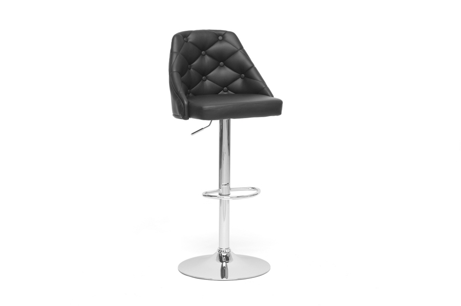 Baxton Studio Salzburg Black Modern Bar Stool Salzburg Black Modern Bar Stool, IESD-2202-PSTL, best price on Salzburg Black Modern Bar Stool, discount Salzburg Black Modern Bar Stool, cheap Salzburg Black Modern Bar Stool