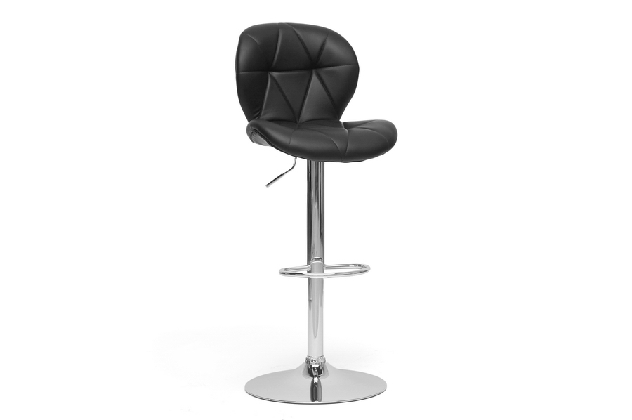 Baxton Studio Warsaw Black Modern Bar Stool Warsaw Black Modern Bar Stool, IESD-2208-PSTL, best price on Warsaw Black Modern Bar Stool, discount Warsaw Black Modern Bar Stool, cheap Warsaw Black Modern Bar Stool