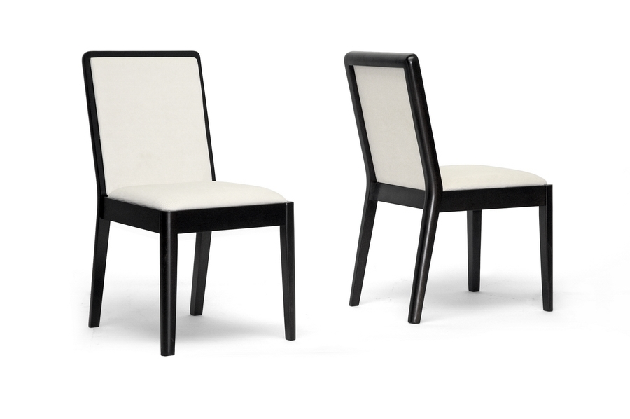 Baxton Studio Maeve Dark Brown and Cream Modern Dining Chair Maeve Dark Brown and Cream Modern Dining Chair, IETMH278-DC, best price on Maeve Dark Brown and Cream Modern Dining Chair, discount Maeve Dark Brown and Cream Modern Dining Chair, cheap Maeve Dark Brown and Cream Modern Dining Chair