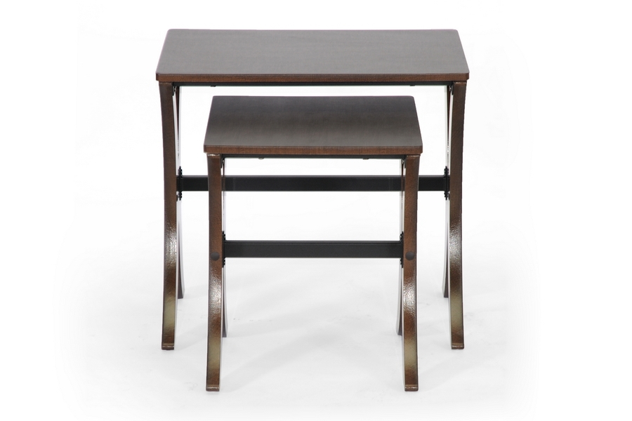 Baxton Studio Xavier Brown Modern Nesting Table Set - IEAA-CJ4(wenge)-AT