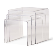 Acrylic Nesting Table 3-Pc Table Set - Clear Aville Clear Acrylic Nesting Tables Display Stands (3 pc set), IEFAY-510, compare Aville Clear Acrylic Nesting Tables (3 pc set), best price on Aville Clear Acrylic Nesting Tables (3 pc set), discount Aville Clear Acrylic Nesting Tables (3 pc set), cheap Aville Clear Acrylic Nesting Tables (3 pc set)