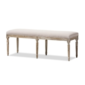 Baxton Studio Clairette Wood Traditional French Bench Baxton Studio Clairette Wood Traditional French Bench, FurnitureEntryway Furniture