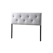 Baxton Studio Kirchem Upholstered White Queenl Sized Headboard Baxton Studio Kirchem Upholstered White Queenl Sized Headboard, Bedroom Furniture