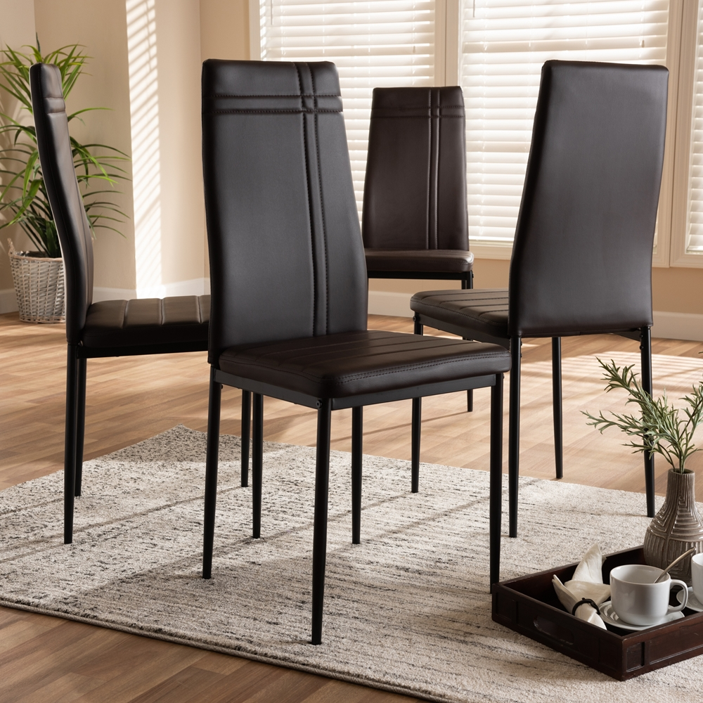 Baxton Studio Matiese Modern and Contemporary Brown Faux ...
