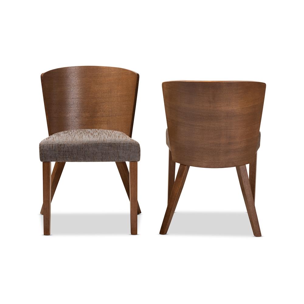 Baxton Studio Sparrow Brown Wood Modern Dining Chair Set