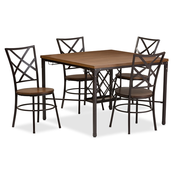 Baxton Studio Vintner Dining Set Interior Express