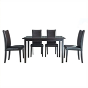Berreman Dark Brown 5 Piece Modern Dining Set Berreman Dark Brown 5 Piece Modern Dining Set, IE-Polly Dining Table (wood top)-107, Shino Dining Chair-107/540 (x4), compare Berreman Dark Brown 5 Piece Modern Dining Set, best price on Berreman Dark Brown 5 Piece Modern Dining Set, discount Berreman Dark Brown 5 Piece Modern Dining Set, cheap Berreman Dark Brown 5 Piece Modern Dining Set