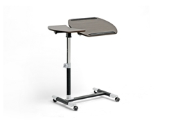 Baxton Studio Olsen Brown Wheeled Laptop Tray Table with Tilt Control Baxton Studio Olsen Brown Wheeled Laptop Tray Table with Tilt Control, Home Office Furniture