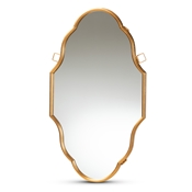 Baxton Studio Dennis Vintage Antique Gold Finished Accent Wall Mirror